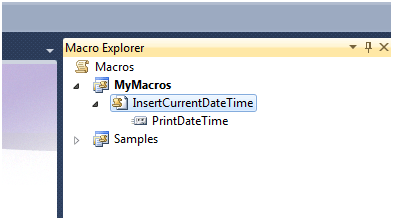 Macros in Visual Studio 2010