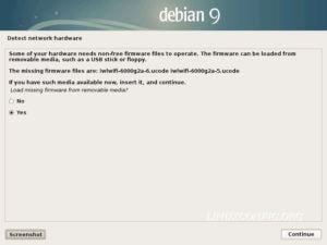 Load missing firmwares - Debian Installation